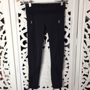 Lululemon Black Mesh Athletic Pants